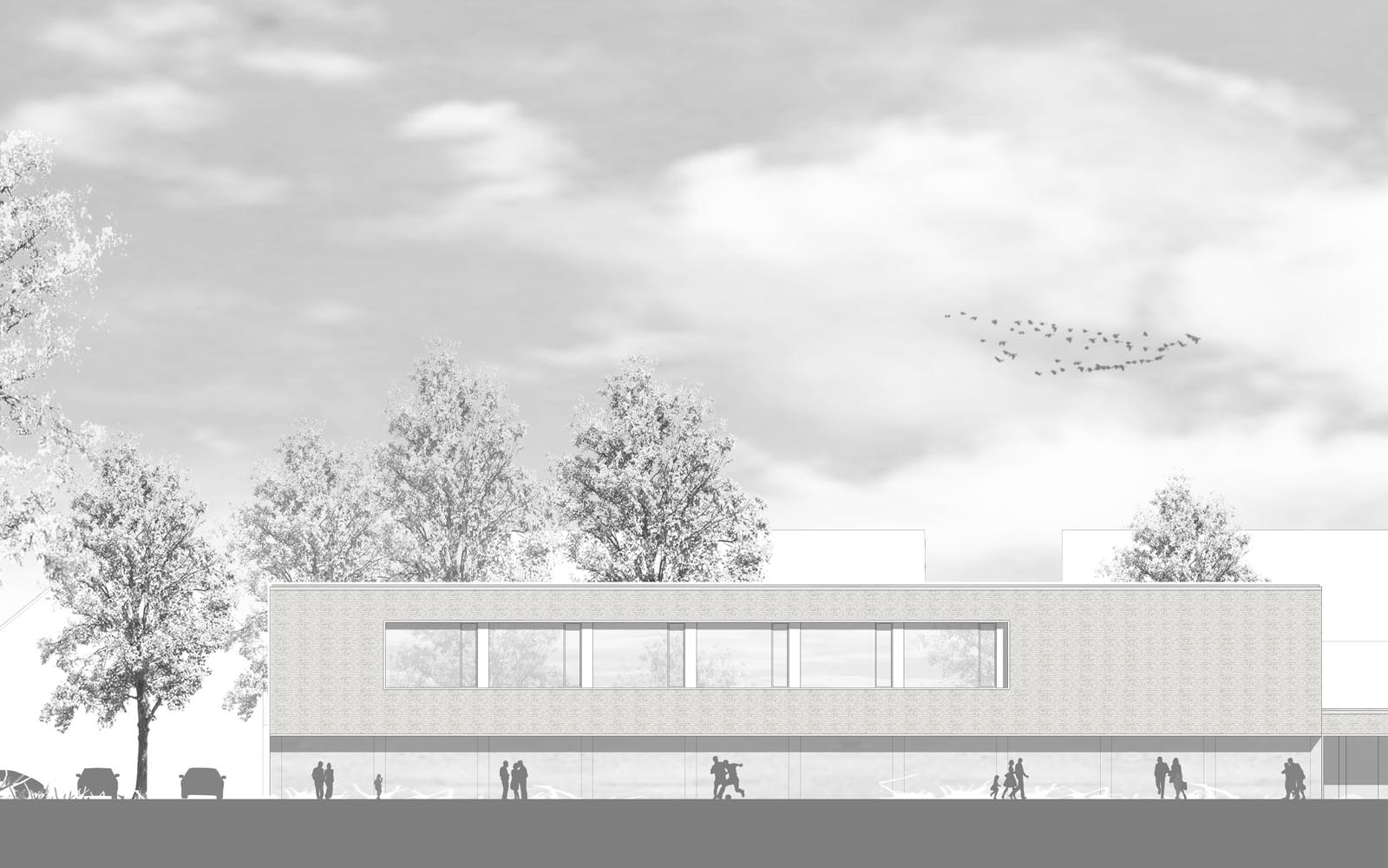 Wettbewerb_Peter-Wust_Schule_mit_Sporthalle_Muenster_Ansicht2_Steinweg_Claus_Architekten