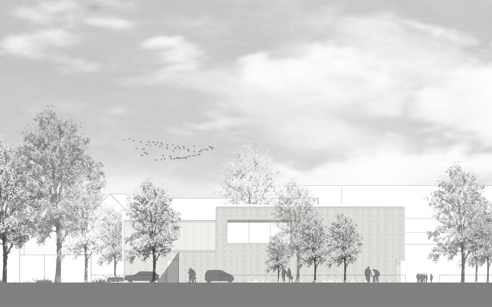Wettbewerb Peter-Wust-Schule Ansicht Steinweg Claus Architekten