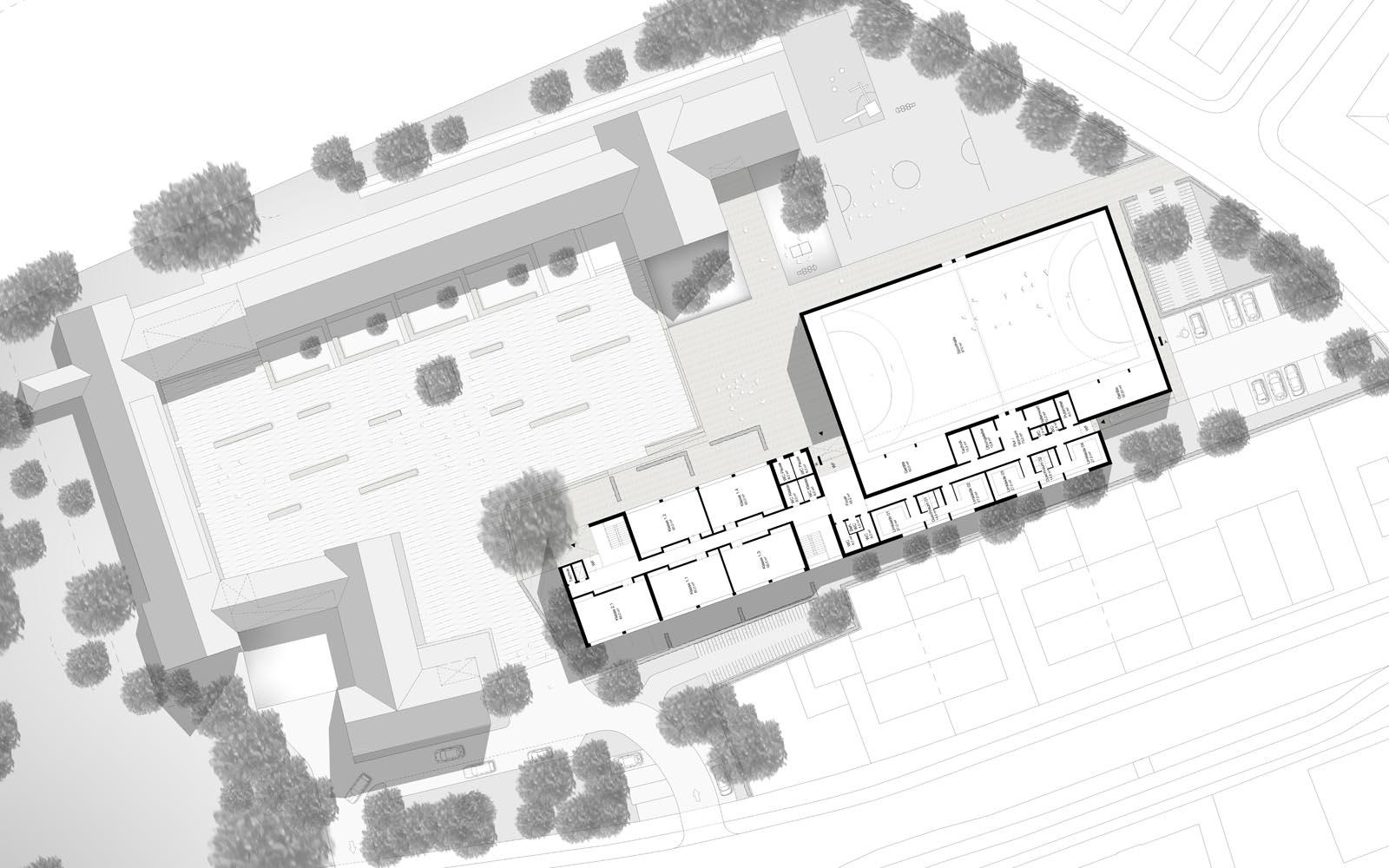 Wettbewerb_Peter-Wust_Schule_mit_Sporthalle_Muenster_Grundriss_Steinweg_Claus_Architekten
