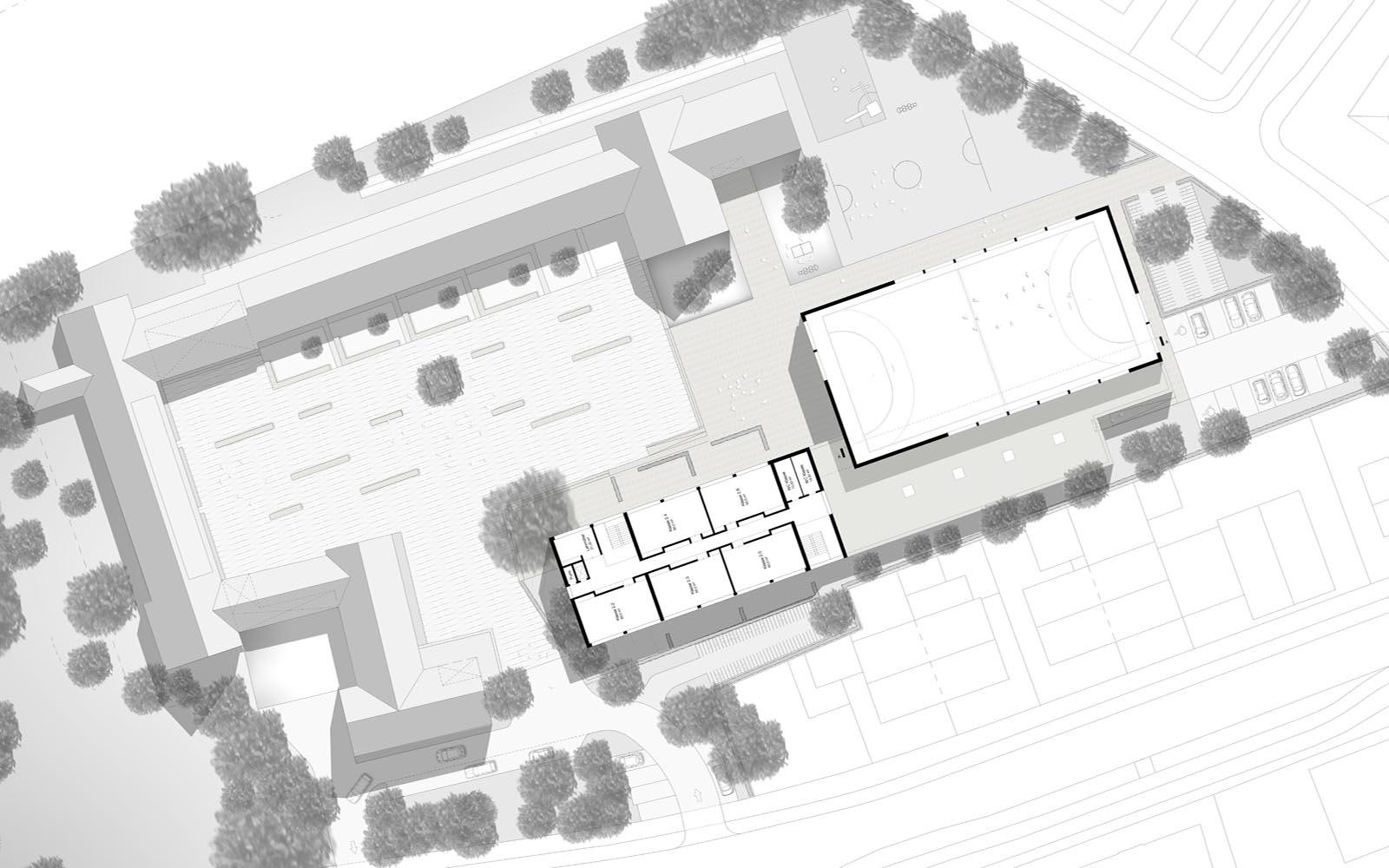 Wettbewerb_Peter-Wust_Schule_mit_Sporthalle_Muenster_Grundriss_Steinweg Claus Architekten