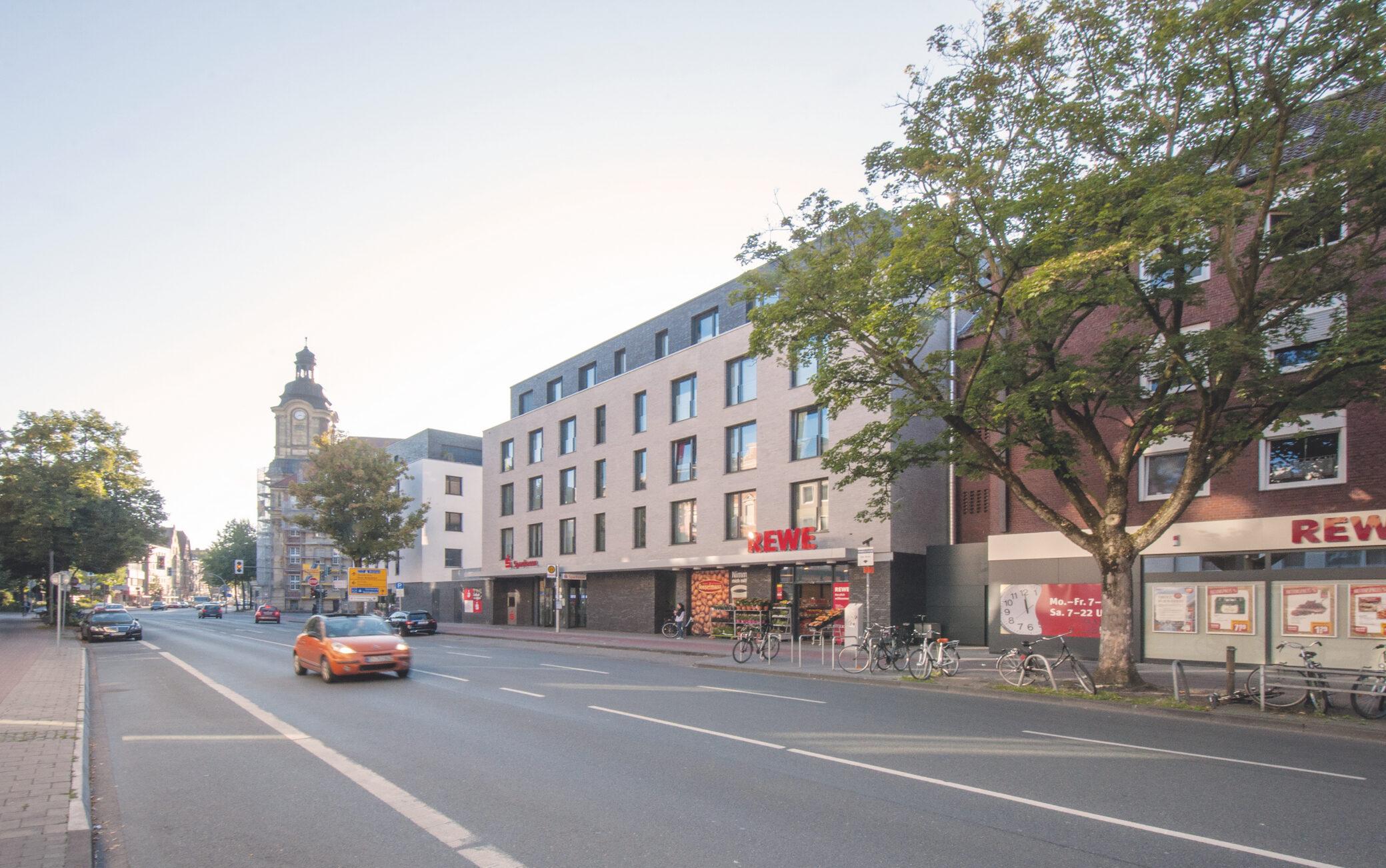 Wohn- und Geschäftshaus Warendorfer Straße Münster, Entwurf: Kötter Architekten BDA